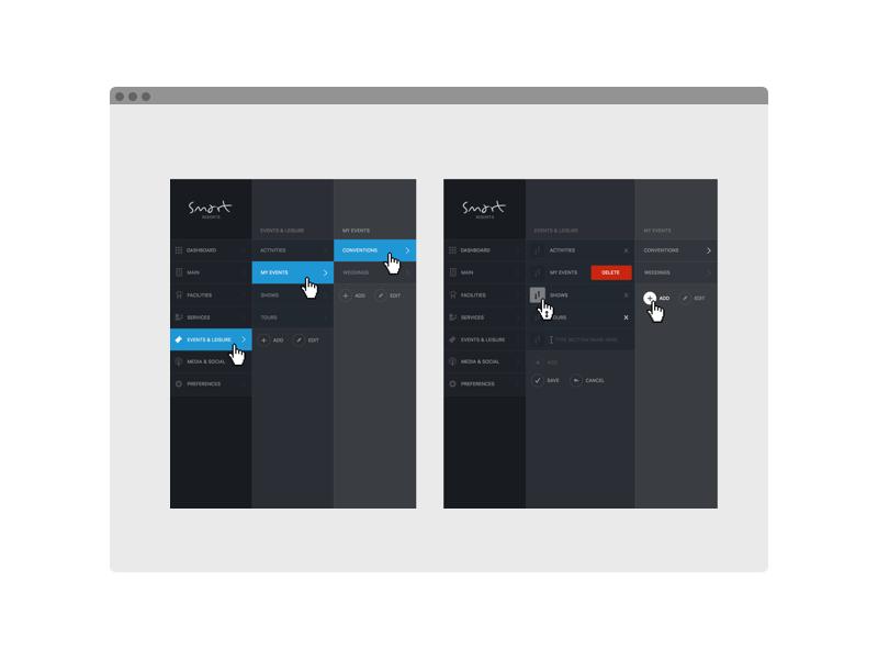 Editable navigation