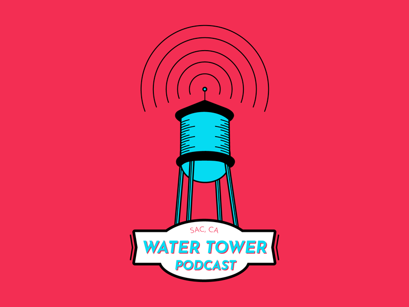 Water Tower Podcast illustrations lineart line line design colors adobe illustrator illustrator vectorart vector adobe design illustration water tower podcast water tower podcast