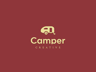 Camper Creative Co campervan branding brand colors icon logos logo web designer brand designer logo designer camper camper creative