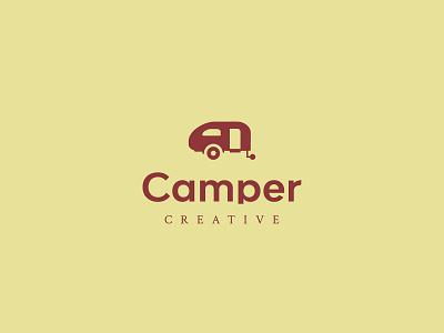 Camper Creative Co Secondary Logo brand identity branding camper creative camper logos logotype graphic designer visual designer brand designer logo designer