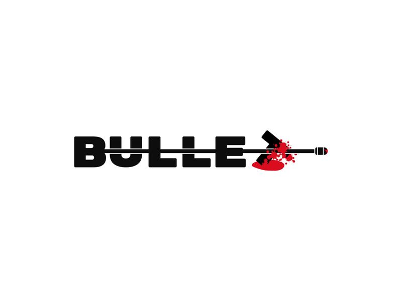 Bullet red shooting shot business badge name logo design logo designer brand designer branding agency logo agency blood wordmark logo wordmark logotype branding identity brand logo bullet