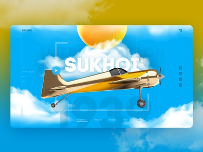 Airplane Concept   Landing page cool ux cool ui landing page concept landing page hero image hero slider hero section