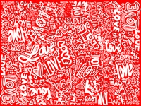 dribble love background lettering red love st valentines