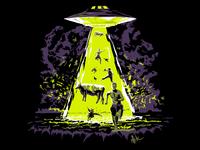 UFO vs Cowboys