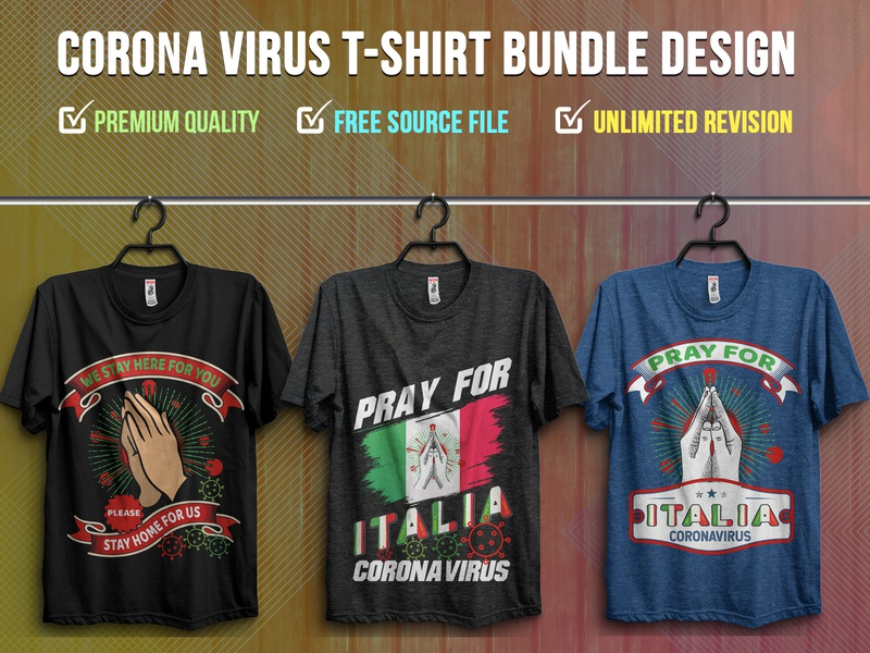 Corona Virus 2020 T-Shirt Design Bundle