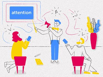 """метафора """"дизайнер - дирижер внимания"""" vector branding design illustration навыки внимание обучение исскуство команда метафора абстракция графический дизайн фирменный стиль vector illustratioк"""
