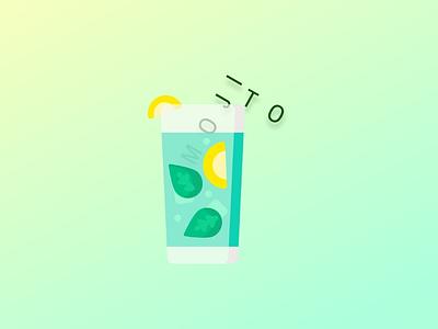 Mojito 2.0 summer mojito logo design