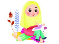 Saya Dan Warna - Icon for Children's Magazine