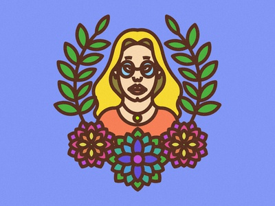 Dribbble Flower Girl