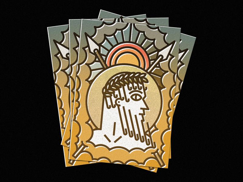 Zeus mythology greek mythology greek god god greek zeus ecosystem nature lines icon badge thick lines design texture illustration geometric