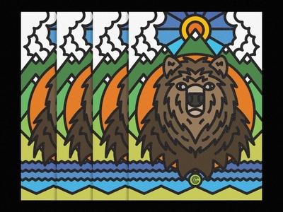 Ursus Arctos thick lines icon lines animal nature texture design illustration geometric urso ursus bear