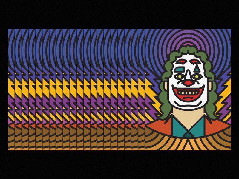 Joker joker movie clown icon lines thick lines texture design illustration geometric dc comics dccomics dc batman joker