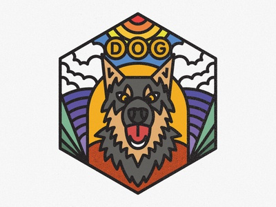 Dobermann dog illustration nature badge lines icon thick lines texture design illustration geometric pet doggy animal dog dobermann