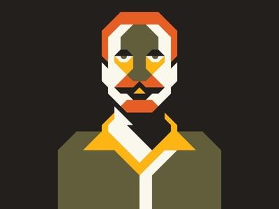 Geometric Men badge lines icon thick lines texture design illustration geometric