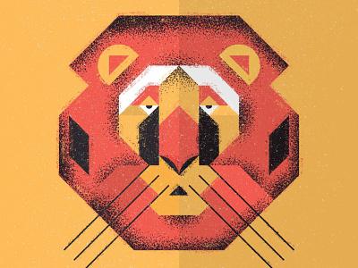 Lion lion vector ecosystem nature animal lines icon thick lines texture design illustration geometric