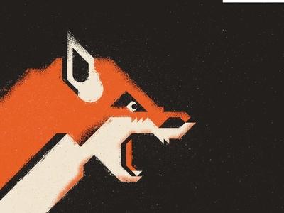 Geometric Fox fox preserve vector ecosystem nature animal thick lines texture design illustration geometric