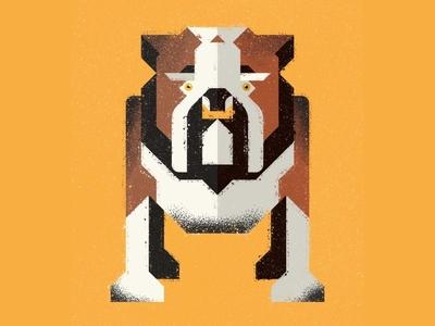 English Bulldog bulldog dog preserve vector ecosystem nature animal texture design illustration geometric icon