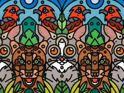 Madagascar Wildlife | Lemur, Fossa & Rody madagascar rody lemur fossa madagascar fauna zoo botanical leaf contemporary jungle plants leaves floral safari wild forest line-art nature animals wildlife