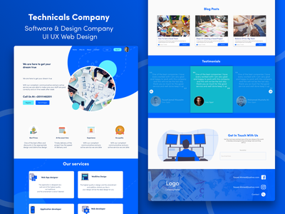 Technicals Company | UI UX Web Design community portfolio design portfolio site portfolio website portfolio page portfolio company profile company design company website software company ui ux design ui design ui ux ui ux web ui company web design company web design branding illustration ui design