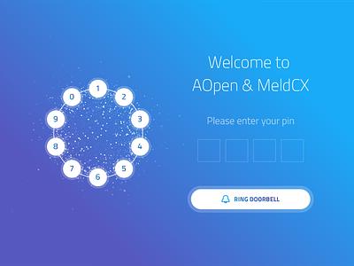 Front Door App meldcx blue welcome buttons particle code pin app doorbell