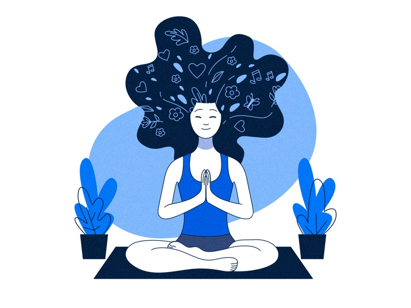 Mindfulness mind inner peace yoga photoshop illustrator vector design illustration designer