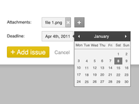 Attached file and calendar view
