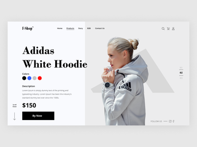 Fashion Shop UI -Landing Page branding design landing landing page hoodie fashio shop fashion shop