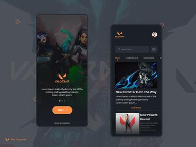 Valorant - Mobile App concept design gamingapp stream gaming valorant app mobile design ux ui