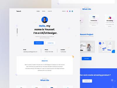 Personal Portfolio Site - Youssef Laabidi ux ui design ux design ui design portfolio personal website landing page ux ui design