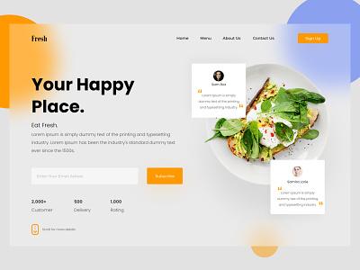 Restaurant Landing Page branding motion graphics ui figma webdesign resturant dribbblers uidesign adobexd graphicdesignui userinterface appdesign gfxmob dailyui userexperience