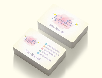 Business card - Jujuba Arteira graphic design branding logo
