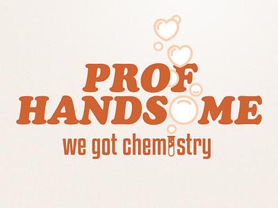 Prof Handsome typography chemistry logos logo design