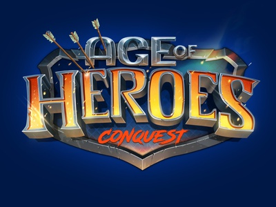 Age of Heroes: Conquest Logo fantasy mobile games logos graphic design logo design game art game branding design logo digital art