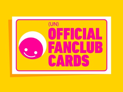 (Un)Official Fanclub Cards photoshop branding logo design cards design celebrities fanclub fan novelty collectable cards