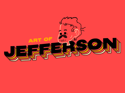 Art of Jefferson portrait logos design branding logo drawing art illustration digital illustration digital art
