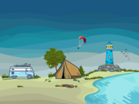 Illustration For Camping