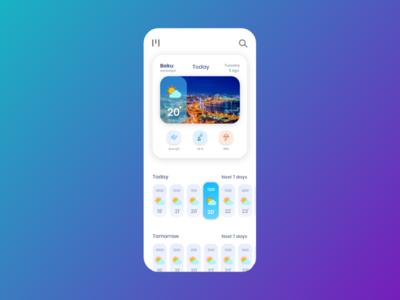 Weather Daily UI flat web icon ux dailyui ui uidesign daily ui daily 100 challenge adobe xd