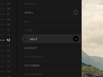 Timeline squarespace v6 black interface time filter