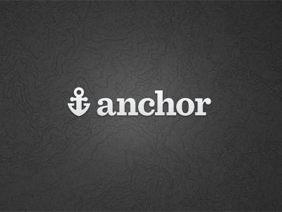 Anchor Logo anchor dark sentinel logo type topographical