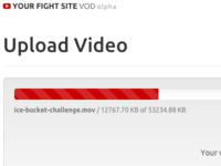 Your Fight Site VOD video upload