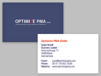 OPTIMIZE business cards