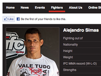 MMA fighter profile