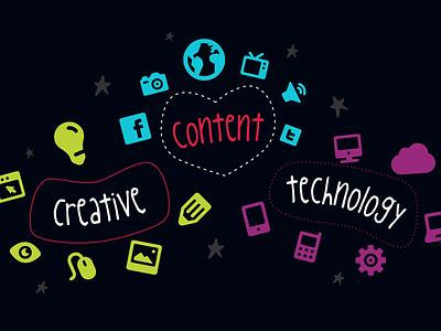 Creative, Content, Technology slide process