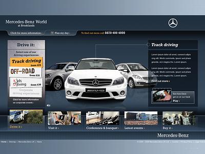 Mercedes-Benz World ui web design