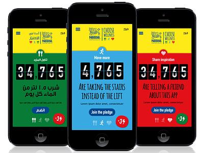 Nestlé Choose Wellness mobile app ui social gamification