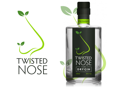 Twisted Nose Gin packaging identity branding