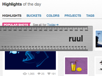 How does dribbble measure up? ruul ruler app chrome extension fun tool