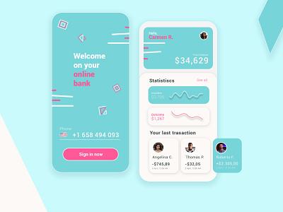 Young Bank App web branding ux ui design app