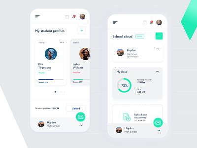 Teacher Cloud App minimal ux ui design app