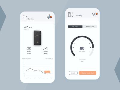 Glo App web minimal branding ux ui design app